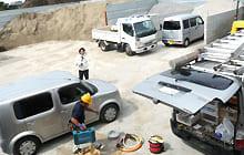 外周警戒設備【駐車場 重機盗難対策】