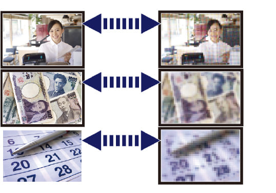防犯カメラでナンバープレートや人物の人相、紙幣の金種まで識別できますか?