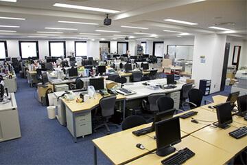 事務所の防犯設備設置イメージ