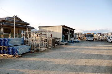 資材置き場の防犯設備設置イメージ