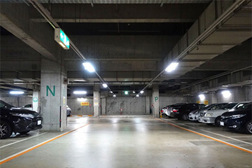 駐車場の防犯設備設置イメージ