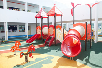 教育施設の防犯設備設置イメージ