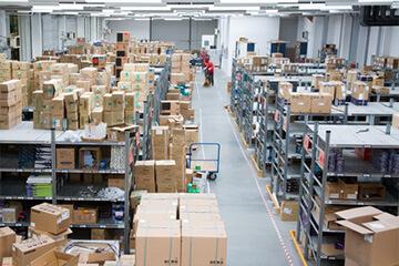 倉庫・工場の防犯設備設置イメージ
