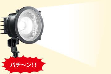 """省電力設計で""""防犯+夜間の作業用灯""""としても活用できる、コスパの高いLEDパワーライト。"""