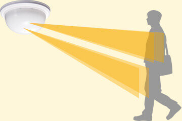 人体の確実な検知と小動物非検知性能を両立した人感熱線センサー。