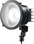 省電力、強力投光のLEDライトで夜間の作業用の灯りとしても使用可能。