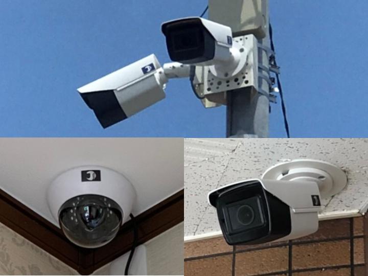 日本防犯設備の防犯カメラ・監視カメラは防塵・防滴・耐衝撃仕様になっているため、屋内・屋外を問わず防犯カメラの設置を行うことができます。
