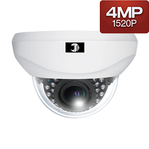 400万画素AHD赤外線ドームカメラ(屋内20m)