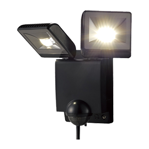 LEDセンサライト二灯タイプ
