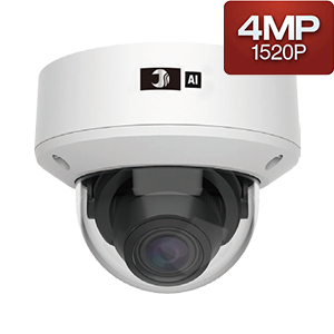 400万画素AI対応赤外線ドームカメラ